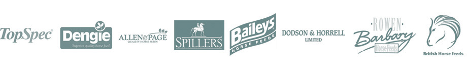 We stock Top Spec, Dengie, Allen & Paige, Spillers, Baileys, Dodson & Horrell, rowen barbary and British horse feeds